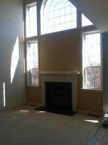 great room window wall before