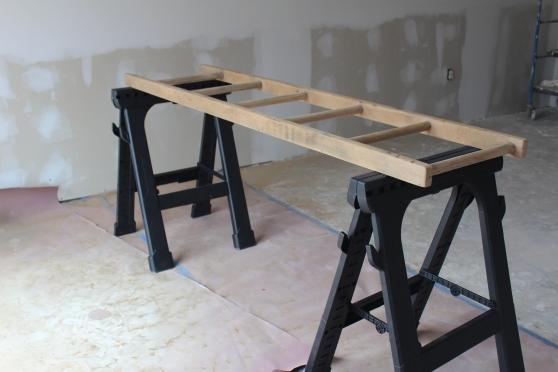 blanket ladder_before staining