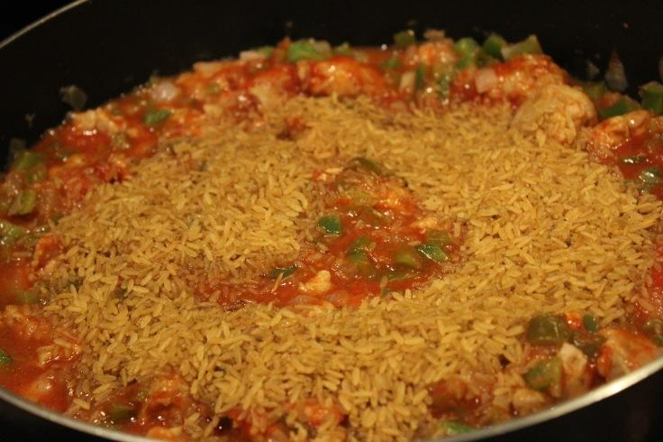 jambalaya_add rice tomatoes