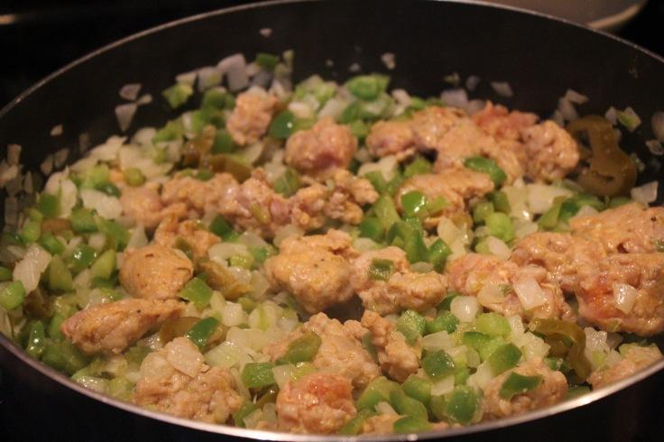 jambalaya_add sausage and cook