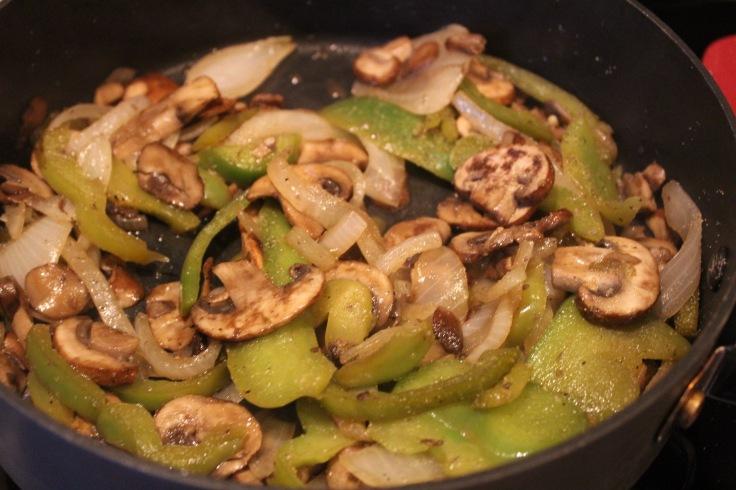smothered chicken_cook veggies