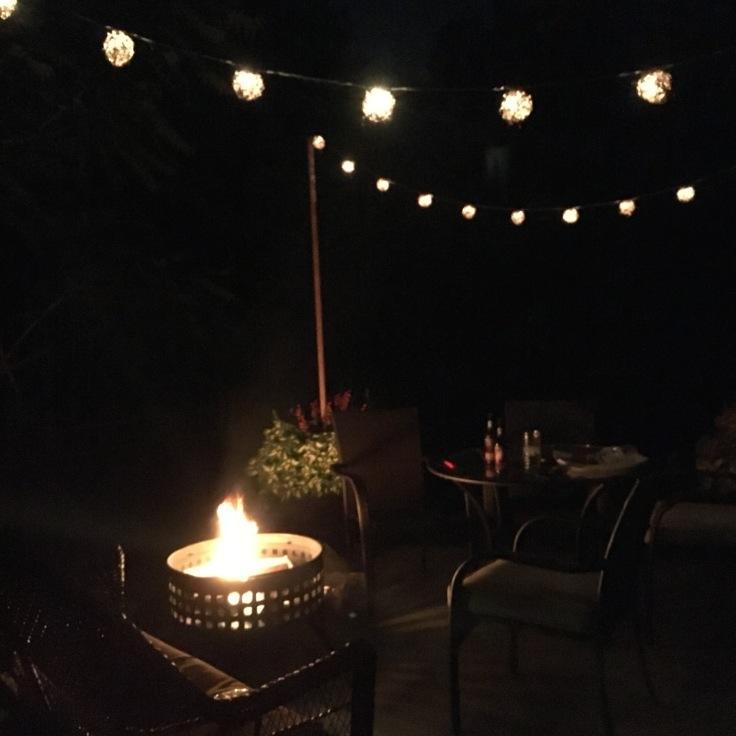patio light poles_at night